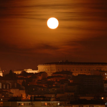 Benevento, panorama con e senza luna