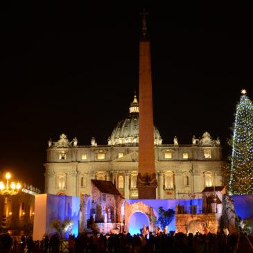 Presepe in piazza San Pietro